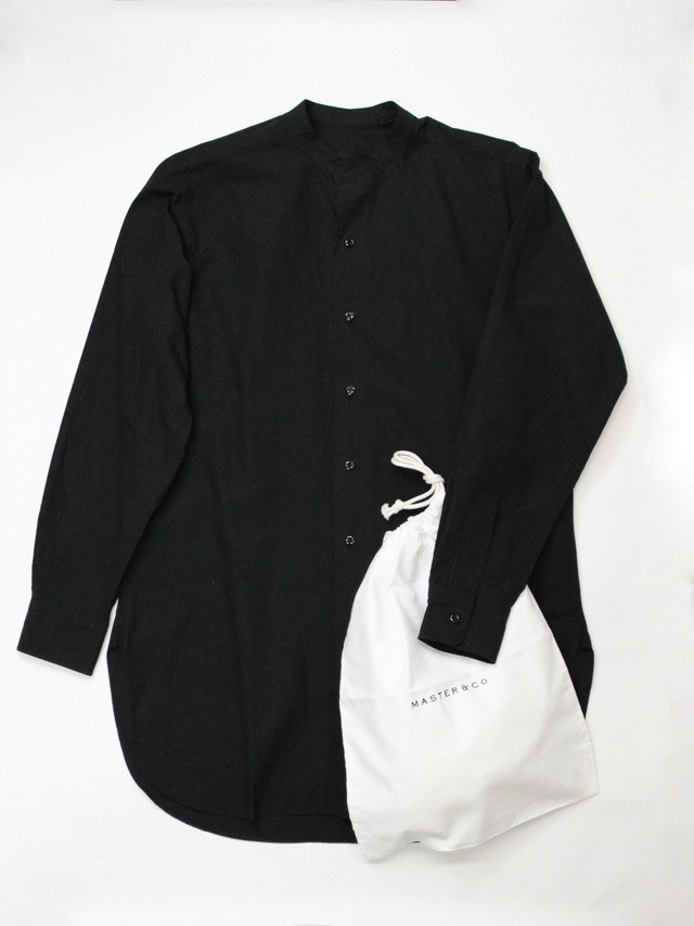 【MASTER & Co. 】マスター&コー スタンドカラーシャツ ブラック