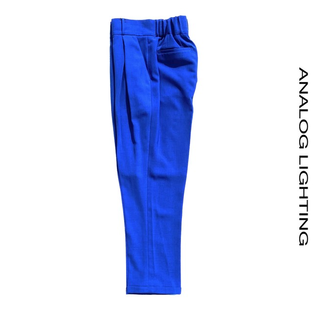 Cross Tuck Pants/BLUE