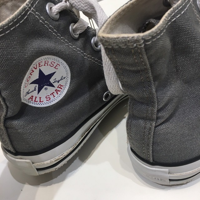 "USED ""  CONVERSE ALL STAR Charcoal gray HI """