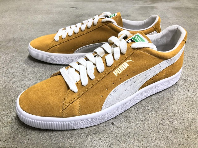 PUMA SUEDE 90681 (HONEY MUSTARD-PUMA WHITE)