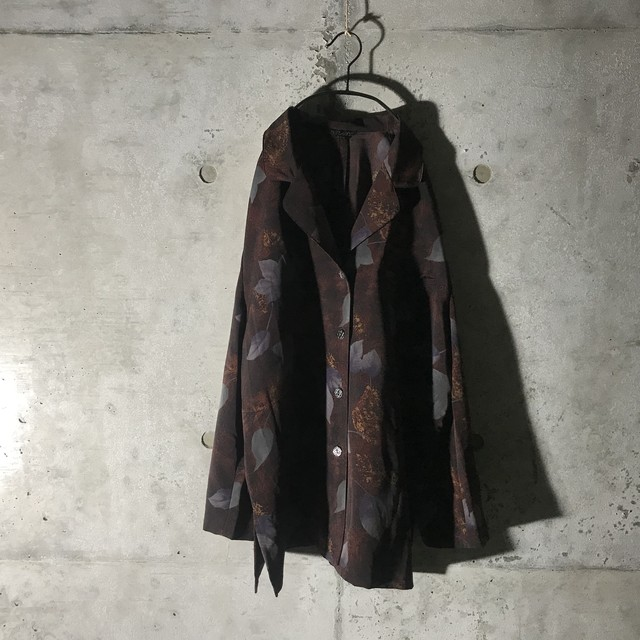 [used] baked brown flower designed shirt