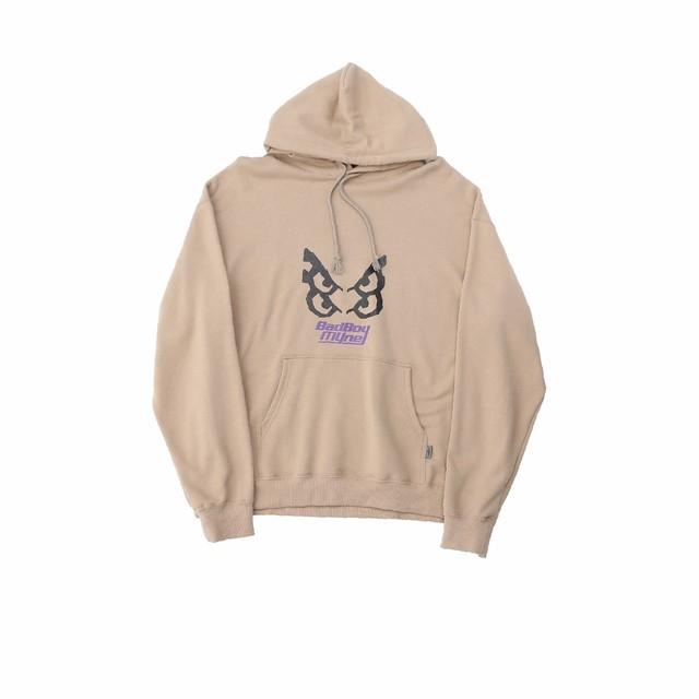 【10%OFF】MYne × BADBOY hoodie / BEIGE - メイン画像