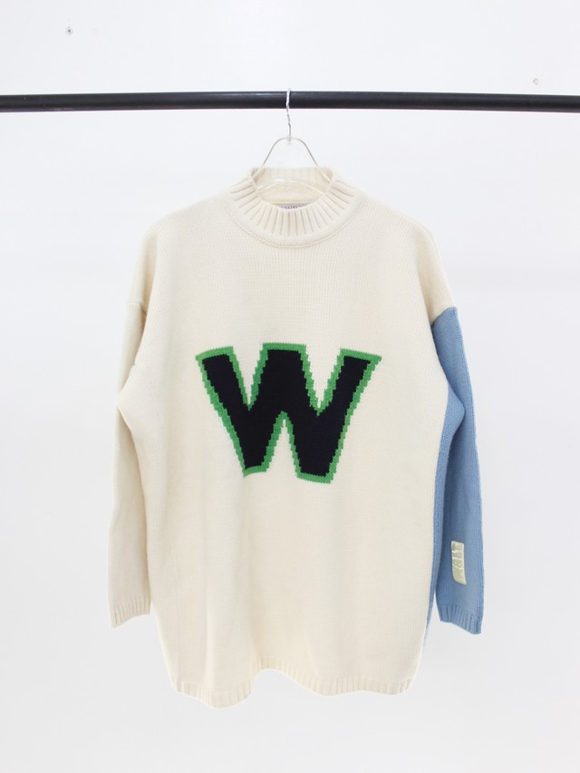 Used 90's W.&.L.T W LOGO High neck Knit