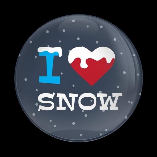 ドームバッジ(CD1054 - Seasonal I LOVE SNOW) - メイン画像