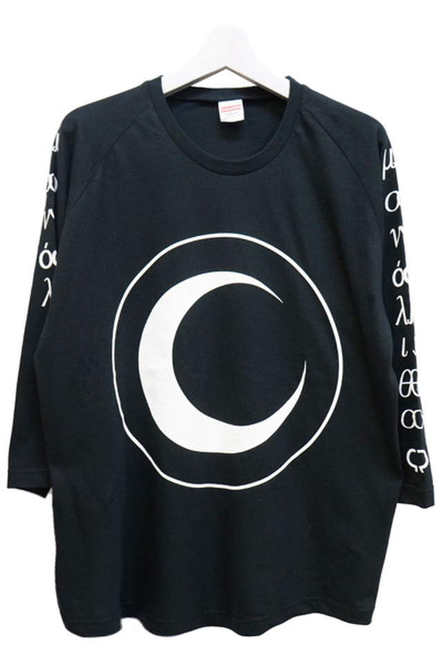 「月瞳」 Long T-Shirts (Black)
