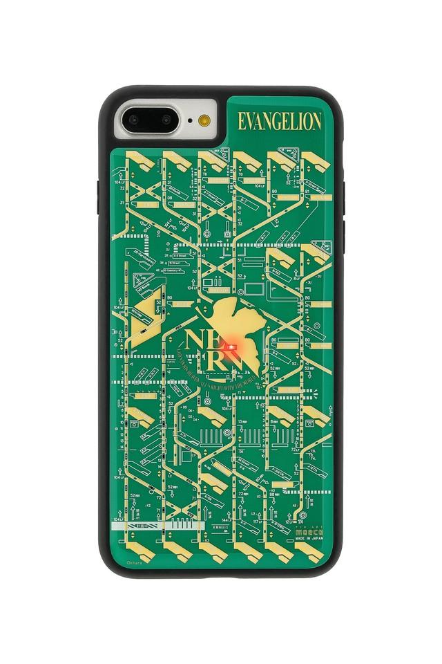 FLASH NERV 基板アート iPhone7/8Plusケース 緑【東京回路線図A5クリアファイルをプレゼント】