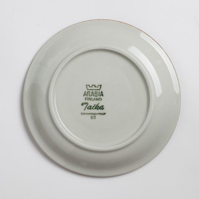 ARABIA アラビア Taika タイカ デミタスコーヒーカップ&ソーサー -a 北欧ヴィンテージ