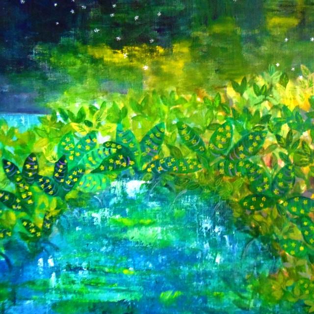 絵画 絵 ピクチャー 縁起画 モダン シェアハウス アートパネル アート art 14cm×14cm 一人暮らし 送料無料 インテリア 雑貨 壁掛け 置物 おしゃれ イラスト 現代アート  ロココロ 画家 : なったこ 作品 : n-2