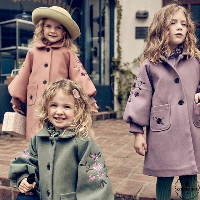 «予約»«pourenfant» cloris coat 3colors クロリスコート
