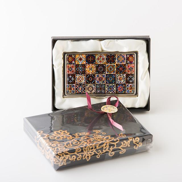 天然貝 名刺カードケース(マジョリカ)<螺鈿アート>