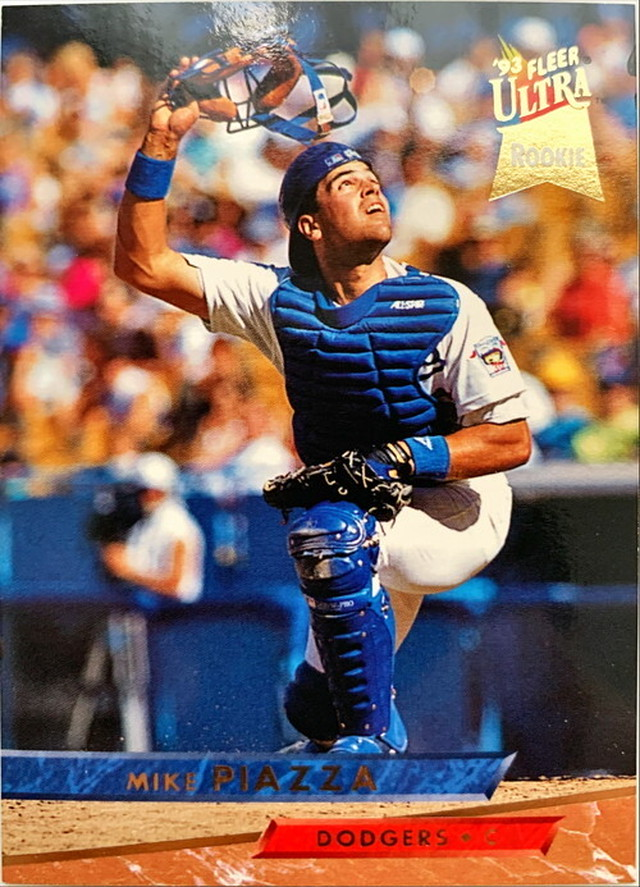 MLBカード 93FLEER Mike Piazza #060 DODGERS ルーキーカード