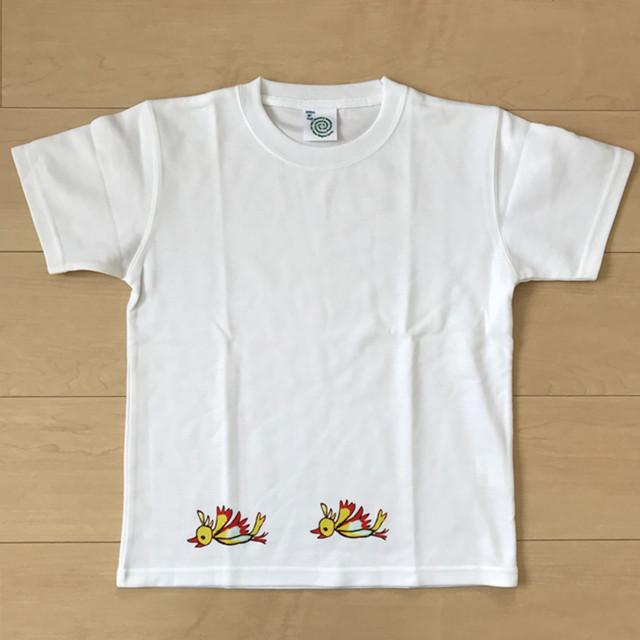 オールドTシャツ企画 オリジナルプリントT 左向きトリ2匹 SSサイズ