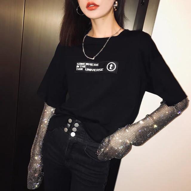 glitter sleeve shirt