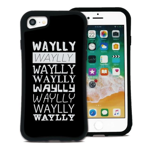 メインロゴ Tロゴ ブラック セット WAYLLY(ウェイリー) iPhone 8 7 XR XS X 6s 6 Plus XsMax対応!_MK_