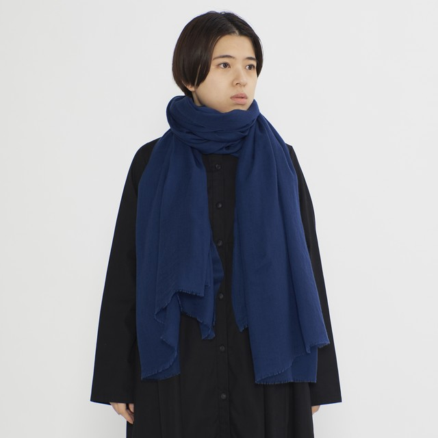 ふんわりと暖かなマフラー TENCEL CASHMERE CRASH SOLID-5colors