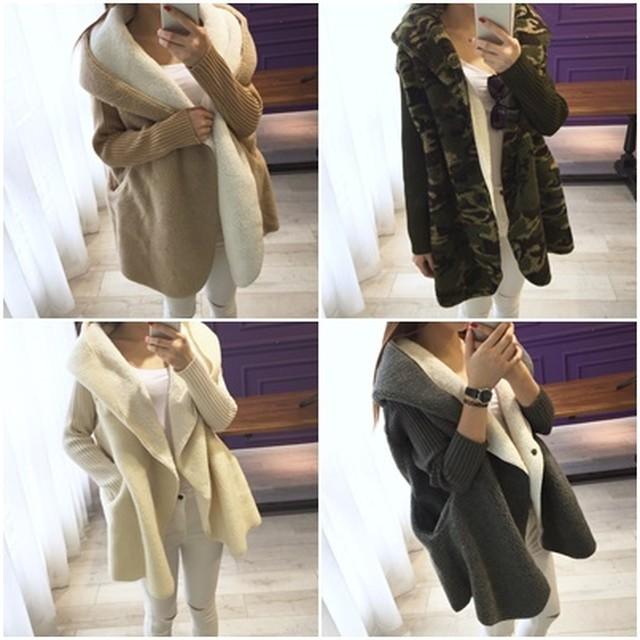 ムートン風コート レディース アウター ファーコート フェイクムートン ニットコート 大きいサイズ 韓国 ファッション プチプラ