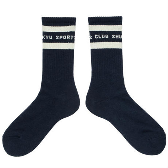 SHUKYU SPORTS CLUB SOCKS / ネイビー | SHUKYU MAGAZINE × CITY BOYS FC