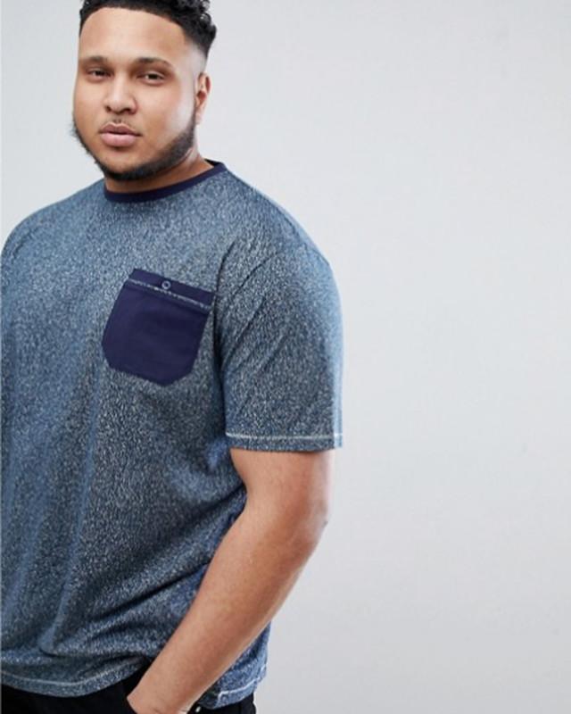 ビッグサイズ Duke  ポケット付きTシャツ(ネイビー)