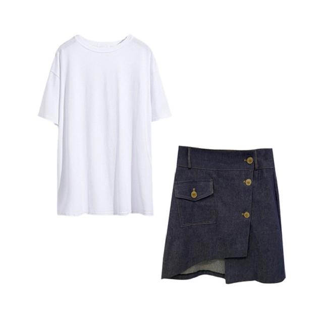 Tシャツ+スカートセット V00690