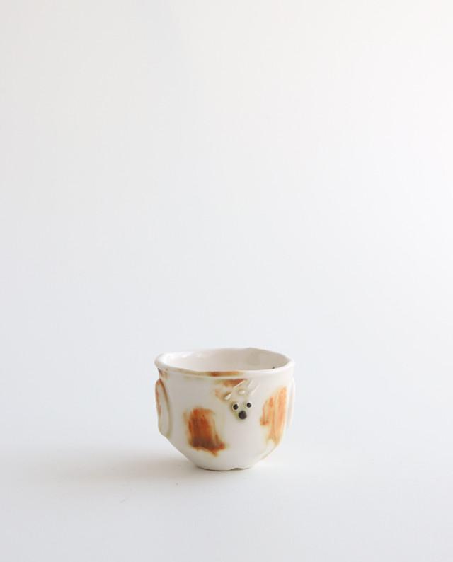 小さな植木鉢(わんくんJr.ぶち模様)