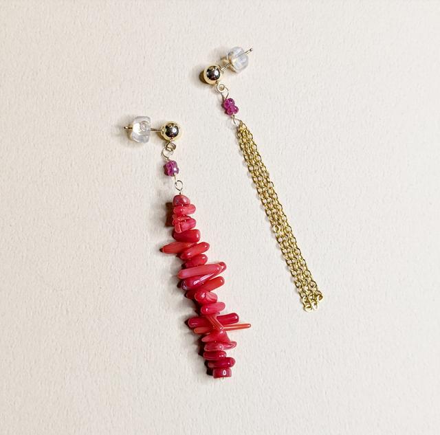 Ruby & Coral earrings | MIHO meets RUKUS