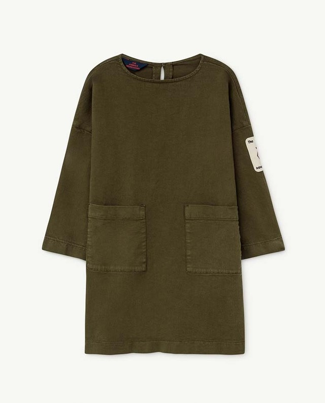 the animals observatory SWALLOW KIDS DRESS(khaki)