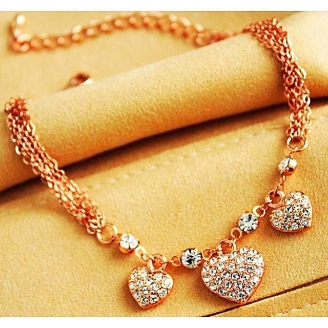 Swarovski triple heart(necklace)