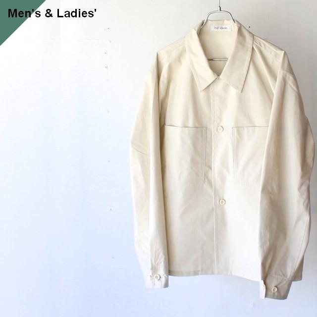 THE HINOKI ザヒノキ Short Shirt Jacket オーガニックコットンウェザーシャツジャケット IVORY