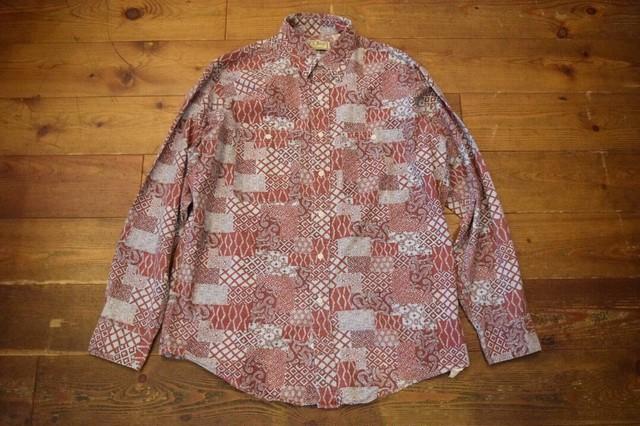 USED USA製 L.L.Bean 長袖シャツ 80s エルエルビーン シャンブレー