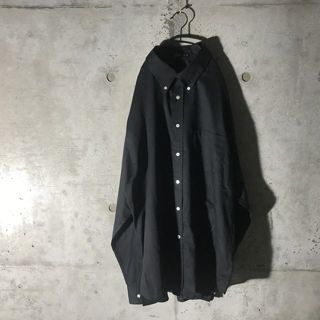[used] white buttons plane shirt