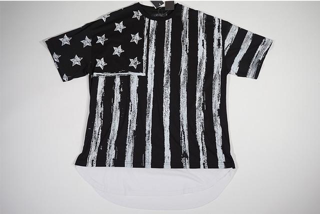 【Rize】星条旗フェイクレイヤーTシャツ【ブラック】