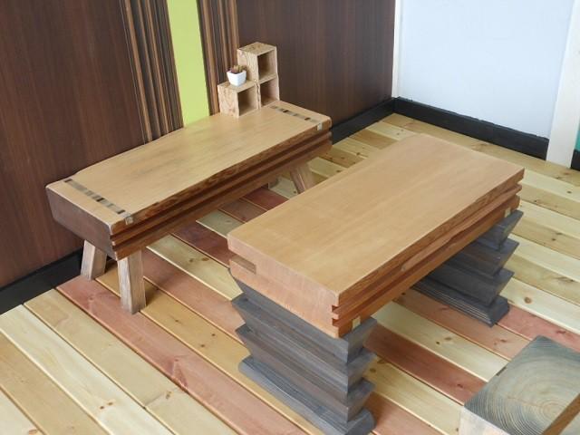 古材 ローテーブル02 - メイン画像