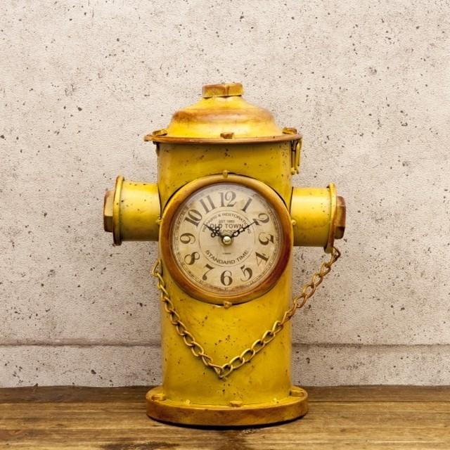 【レトロデイズクロック】[Hydrant] イエロー