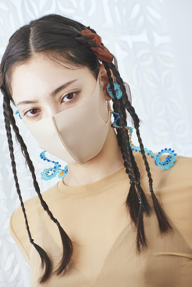 ARRO / Embroidery mask strap / glass code /  WHORLS / MINT