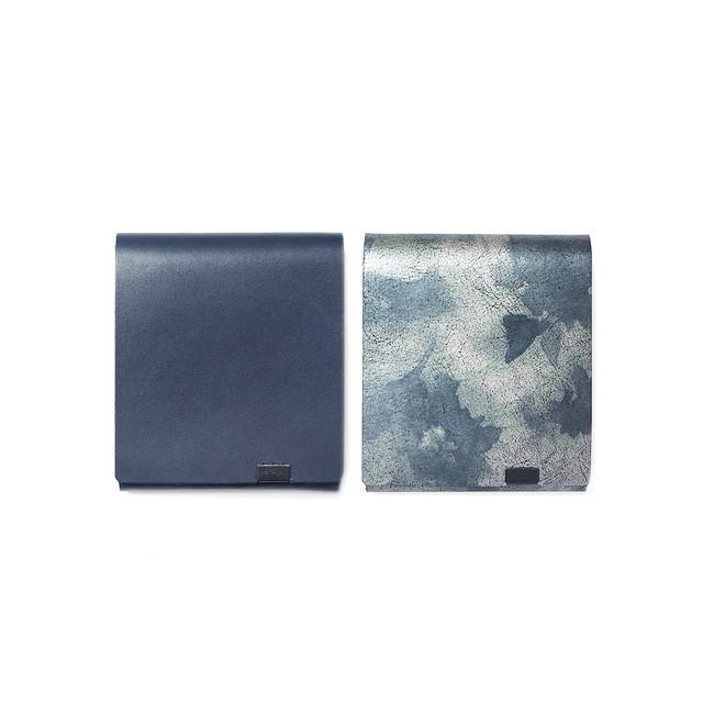 睡蓮画  フローラル (&ネイビー) ショートウォレット2.0