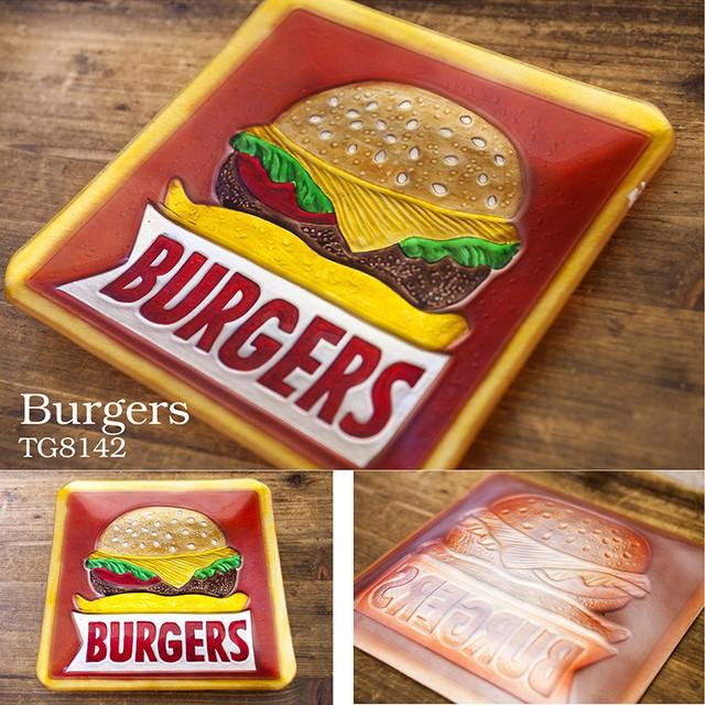 ポップデコ [ガラストレイ] アメリカン雑貨 ハンバーガー ホットドッグ