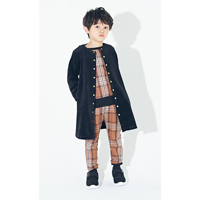 【MAAROOK】109-0104027  先染めチェックパンツ 80㎝-150㎝