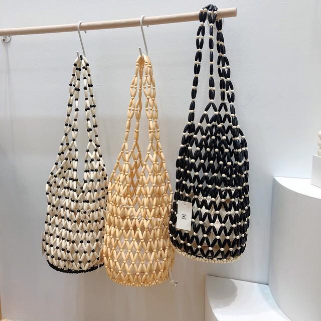 Wood beads bag KRE872