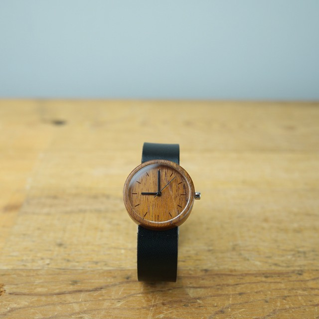Teak wood - Organic leather - M