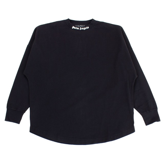 PALM ANGELS Classic Logo Over Long Sleeve Tee Black