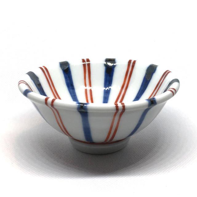 【砥部焼/梅山窯】鍋小鉢(朱線)