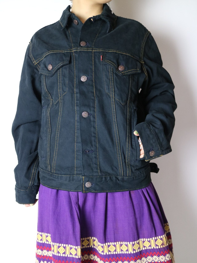Levi's black denim jacket【0912】