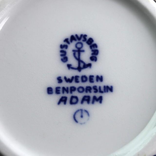 Gustavsberg グスタフスベリ Adam アダム 青 コーヒーカップ&ソーサー 北欧ヴィンテージ