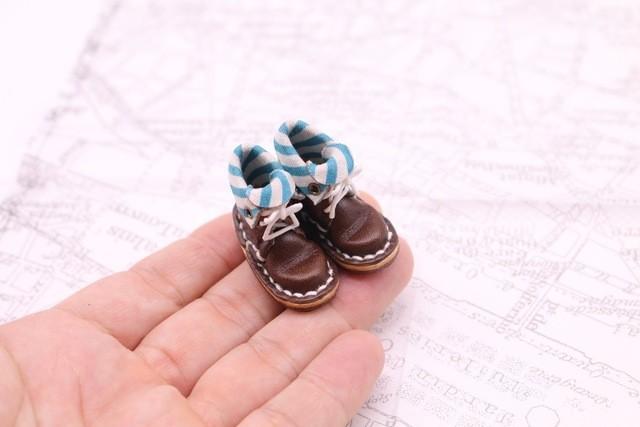 小さな革ブーツ|ココア裏地付