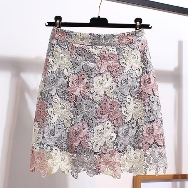 【即納】Mサイズのみパステルレーススカート