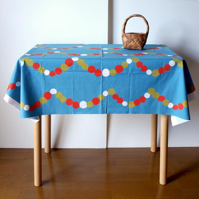 【カットクロス】 ひかりのたま(ブルー)Kona®コットン生地(107cm×90cm)