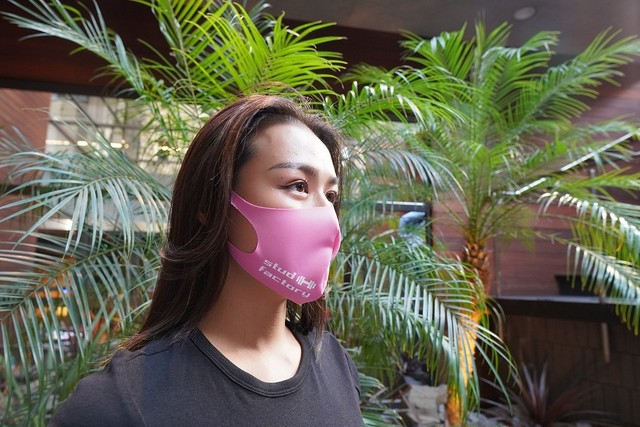 LADIES dry fit mask  (PINK)