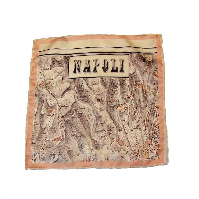 【新入荷】Spacca Neapolis ポケットチーフ - Napoli Map