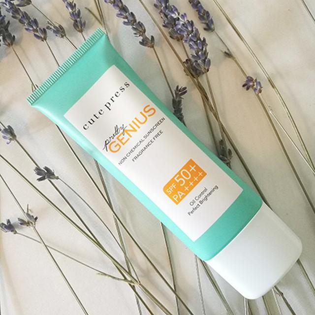 日焼け止め(敏感肌向け)「 Pretty Genius Sunscreen」 SPF 50+ PA++++