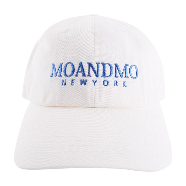 MOANDMO LOGO Twill Dad Cap / White